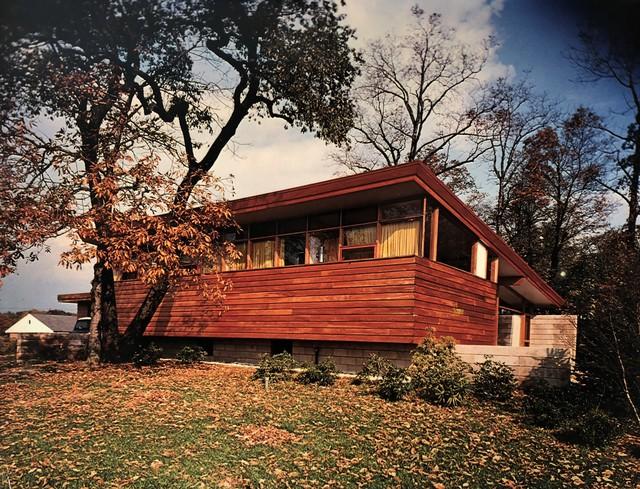 Pedro E. Guerrero, 'Fider House, Exterior, CT (Joseph P. Salerno, Architect)', 1949, Photography, Vintage color photograph, Edward Cella Art and Architecture