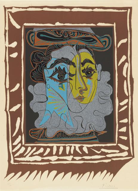 Pablo Picasso, 'La femme au chapeau', 1962, Print, Linocut in colours on Arches wove paper, Christie's