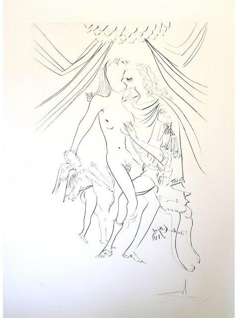 "Salvador Dalí, 'Original Etching ""Venus, Mars and Cupidon"" by Salvador Dali', 1971, Galerie Philia"