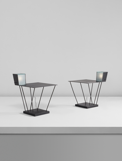 Steven Holl, 'Pair of side tables with integrated lamps, from Museum Tower, New York', 1986-1987, Phillips