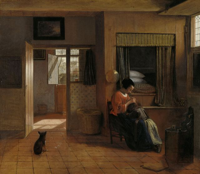 Pieter de Hooch, 'A Mother Delousing her Child's Hair, Known as 'A Mother's Duty'', ca. 1658 -1660, Rijksmuseum