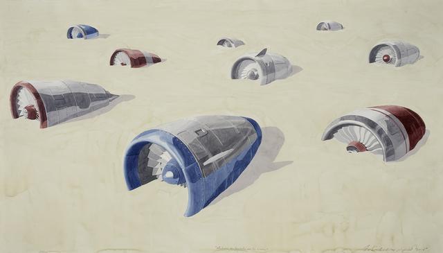 , 'Motores enterrados en la arena,' 2015, Galerie Peter Kilchmann