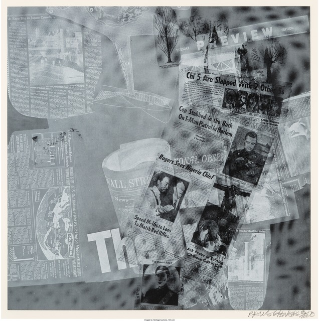 Robert Rauschenberg, 'Surface Series from Currents, The Pro', 1970, Heritage Auctions