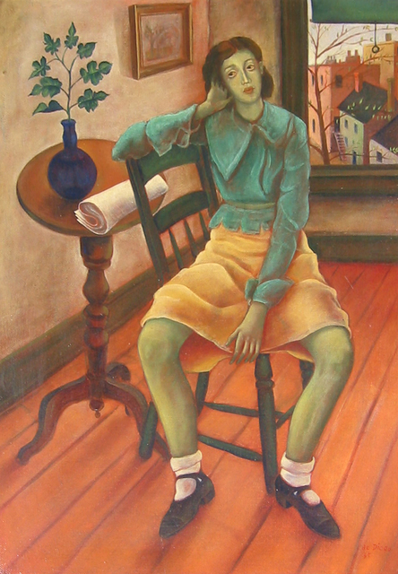 , 'Girl in Interior,' 1935, Caldwell Gallery Hudson