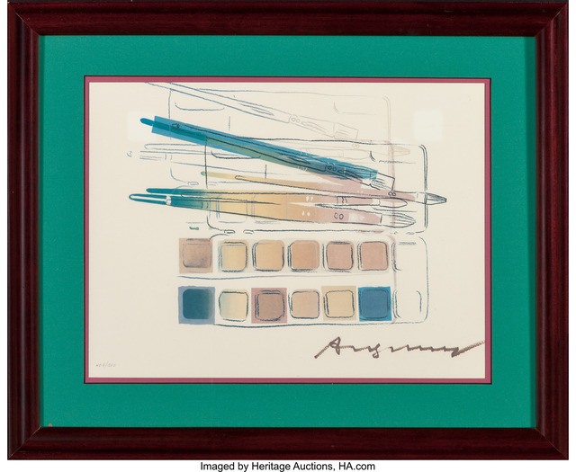 Andy Warhol, 'Watercolor Paint Kit with Brushes', 1982, Print, Offset lithograph in colors, Heritage Auctions