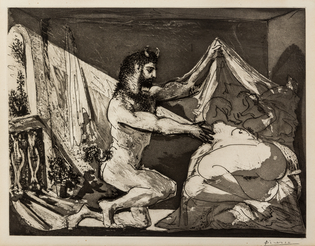 Pablo Picasso, 'Faune dévoilant une femme (from La Suite Vollard)', 1936, Hindman