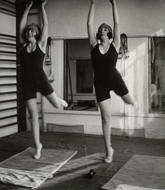 Jacques Henri Lartigue, 'Bibi et Lolo Burky, séance de gymnastique, Paris ', 1921, °CLAIRbyKahn Galerie
