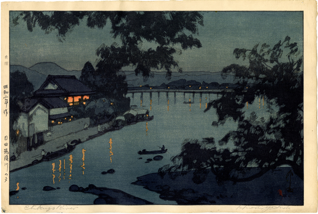 , 'Evening on the Chikugo River in Hida,' 1927, Egenolf Gallery Japanese Prints & Drawing