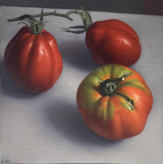 Amy Weiskopf, 'Tomatoes', 2018, Painting, Oil on linen, Clark Gallery