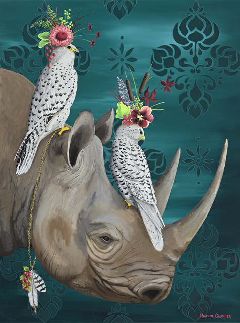 , 'The Falcons and Their Rhino,' 2018, ÆRENA Galleries and Gardens
