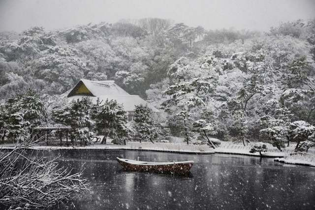 , 'Boat Covered in Snow in Sankei-en Gardens, Japan,' 2014, Peter Fetterman Gallery