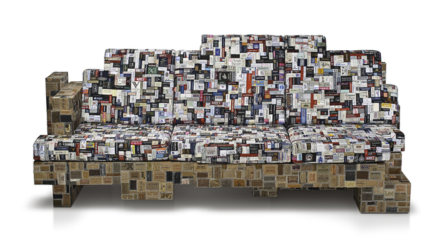, 'Label Whore Sofa,' 2012, Miller Gallery Charleston