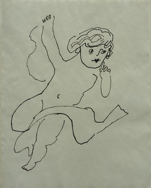Andy Warhol, 'Untitled (Angel with Scarf)', ca. 1954, Long-Sharp Gallery