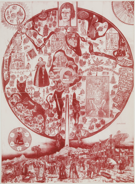 Grayson Perry, 'A Map of Nowhere (red)', 2008, Paragon