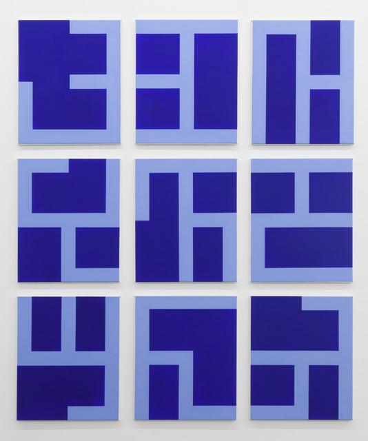 , 'Eviter le Pire (Blue),' 2013, Tatjana Pieters