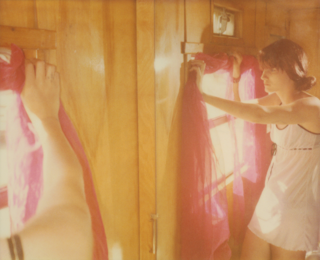 Stefanie Schneider, 'Hemispheres Away (The Girl behind the White Picket Fence) ', 2013, Photography, Analog C-Print, hand-printed by the artist on Fuji Crystal Archive Paper, based on a Polaroid, not mounted, Instantdreams