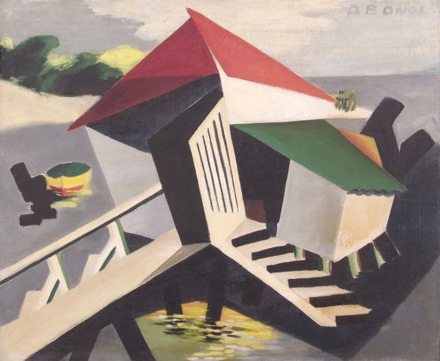 Dusti Bongé, 'Biloxi Scene with Boat and Camp', 1943, Amanda Winstead Fine Art