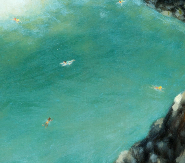 Dan Attoe, 'Summers At Waterfall 2', 2014, Painting, Oil on gesso on canvas, stretched over panel, Western Exhibitions