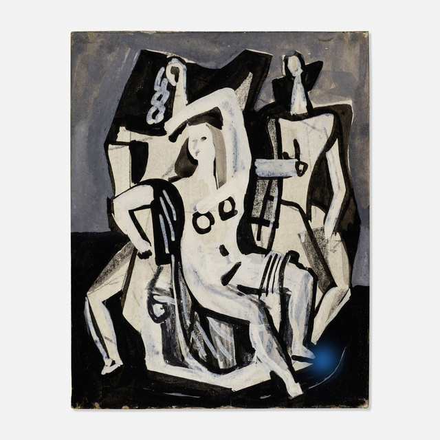 Vaclav Vytlacil, 'Untitled', Painting, Tempera on paper, Rago/Wright