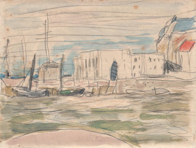 , 'The Docks at Deauville Verso: Port Scene,' ca. 1925, Jill Newhouse Gallery