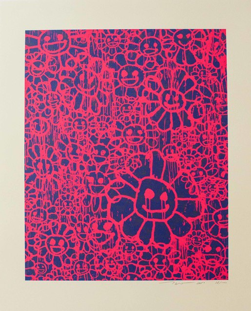 Takashi Murakami, 'Madsaki Flowers (B Pink)', 2017, Print, Silkscreen on thick paper, Lougher Contemporary