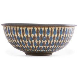 Fine large bowl with teardrop pattern, Claremont, CA