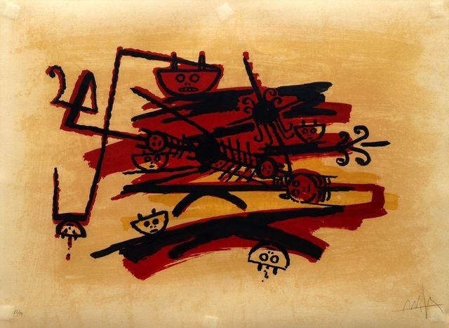 Wifredo Lam, 'De la carpeta El último viaje del buque fantasma', 1976, Roseberys