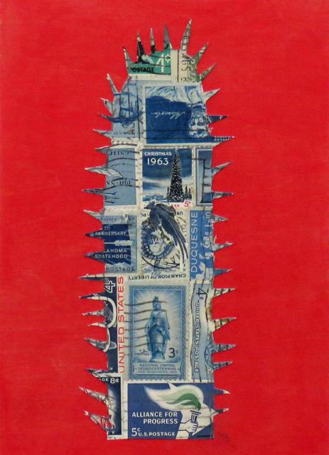 , 'Stamp Cactus Blue,' 2017, Joshua Tree Art Gallery