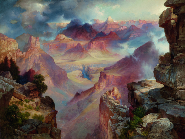 , 'Grand Canyon of Arizona at Sunset,' 1909, Seattle Art Museum
