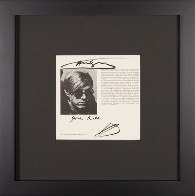 Andy Warhol, 'Vintage Lithograph', Rudolf Budja Gallery