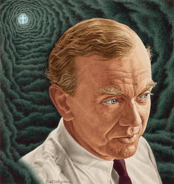 Ernest Hamlin Baker, 'Graham Greene, Time magazine cover Illustration, October 29, 1951', 1951, Robert Funk Fine Art