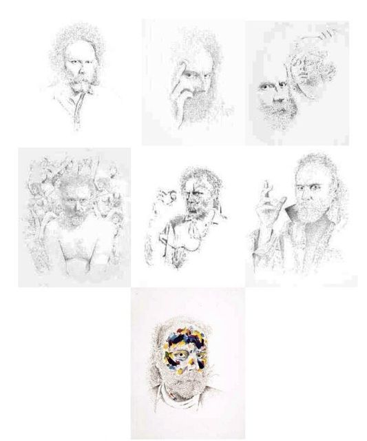 Lucas Samaras, 'Self Portrait (one portfolio of 7 etchings)', 1994, Galerie de Bellefeuille