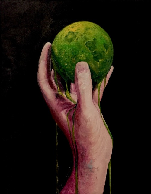 , 'The Moon Melted in My Hand,' 2018, Galerie Youn