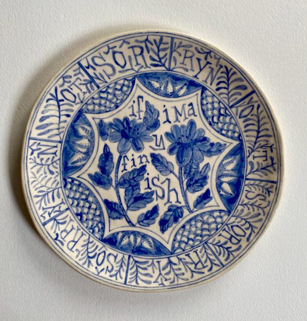 Elyse Pignolet, 'If I May Finish', 2021, Sculpture, Ceramic plate with glazes, Koplin Del Rio