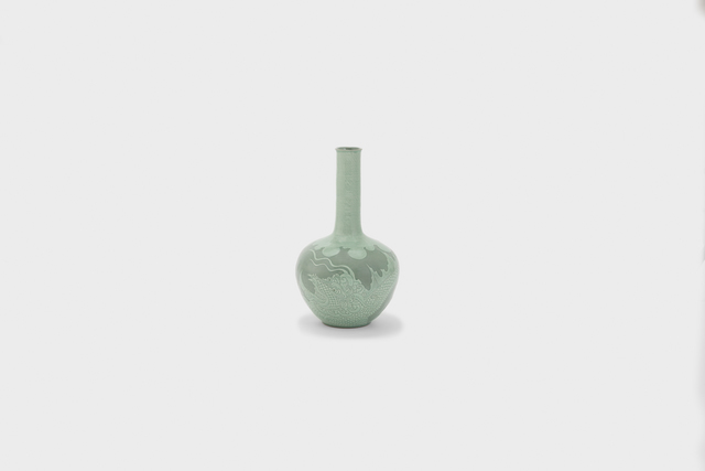 , 'Long-necked celadon bottle with white dragon,' 2012, Gallery LVS