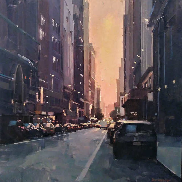 , 'Manhattan Sundown,' 2018, Sue Greenwood Fine Art