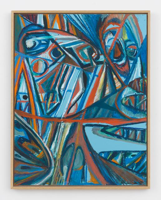 , 'Blue Masks,' 2017, Halsey McKay Gallery