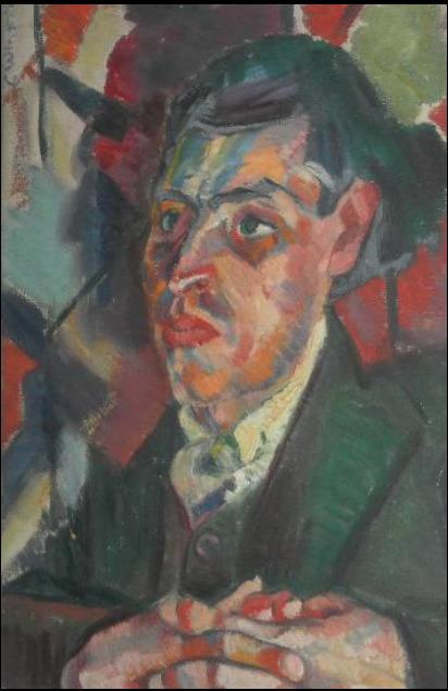 , 'Portrait of Joseph Leftwich,' ca. 1919, Ben Uri Gallery and Museum