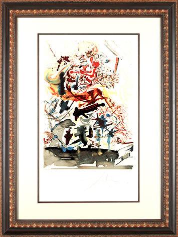 ", '""Cascade of Souls"" Hand Signed Salvador Dali Lithograph,' 1941-1957, Elena Bulatova Fine Art"