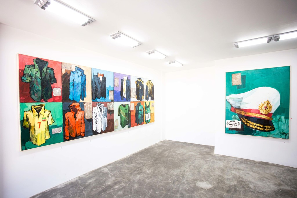 Works by Dawit Abebe in Addis Calling Group Show