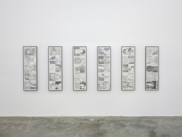 , 'Untitled (July/August), Untitled (September/October), Untitled (November/December), Untitled (January/February), Untitled (March/April), Untitled (May/June),' 2014, Casey Kaplan