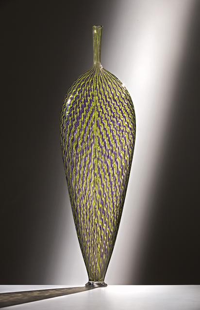 , 'Purple and Green Wavy Leaf,' 2016, Ken Saunders Gallery