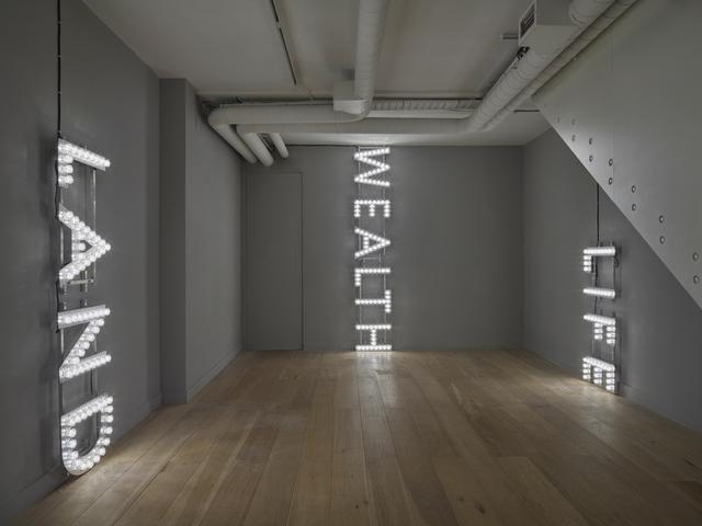 Nathan Coley, 'Palace', 2015, Installation, Lightbulbs, aluminium, scaffolding, Parafin
