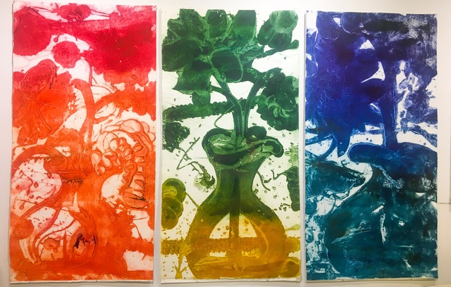 Catherine Howe, 'Carborundum Monoprint Triptych', 2016, Print, Carborundum, acrylic, ink monoprint on paper, Cross Contemporary Partners