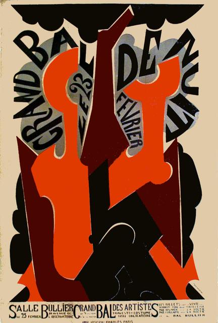 Natalia Goncharova, 'GRAND BAL DE NUIT - WITH LETTERING', 1923, Omnibus Gallery