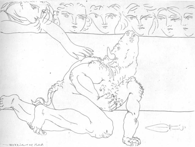 Pablo Picasso, 'Minotaure mourant', 1933, Cristea Roberts Gallery