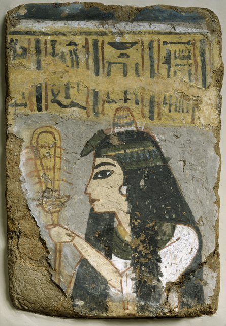 'Wall Painting: Woman Holding a Sistrum', ca. 1250-1200 B.C., Walters Art Museum
