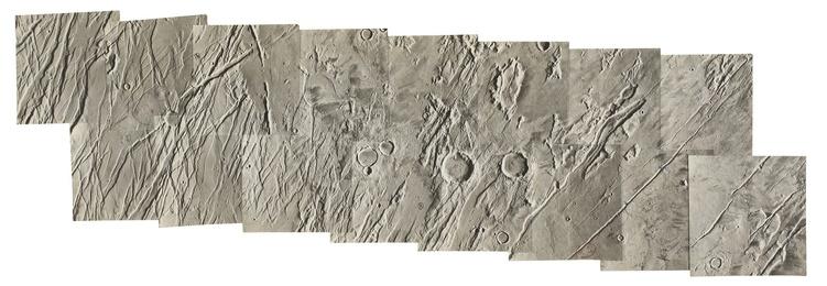 HAND MOSAIC OF MARS, CA. 1979