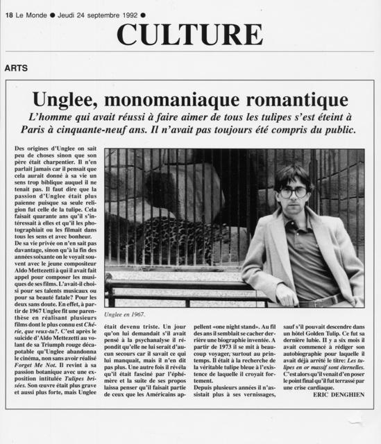 , 'Unglee, monomaniaque romantique -Dix ans de disparitions,' 1993-1995, Galerie Christophe Gaillard
