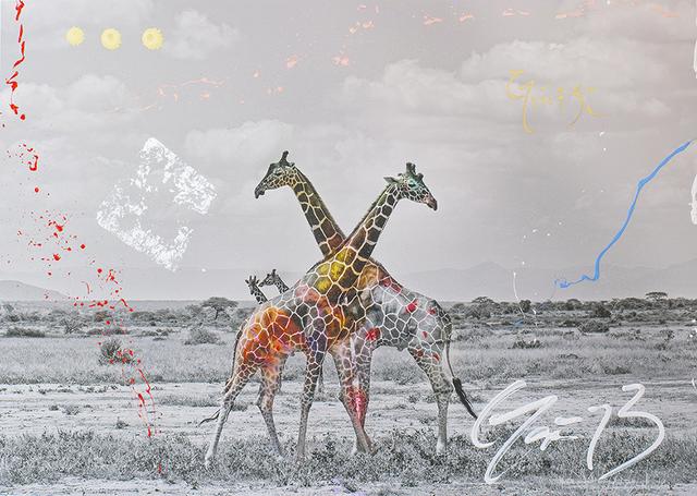 Arno Elias, 'Giraffe Duet', 2017, Denis Bloch Fine Art